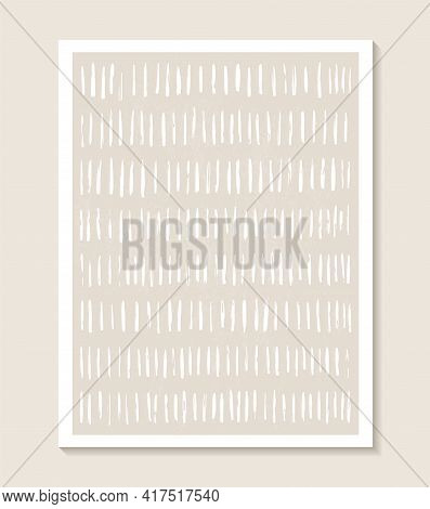 Contemporary Template With Abstract Shapes And Line In Nude Colors.