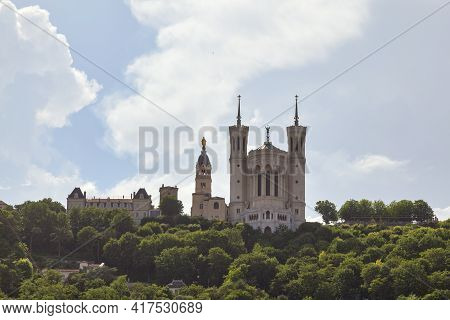 The Basilica Of Notre-dame De Fourvière Is A Minor Basilica In Lyon Built With Private Funds Between