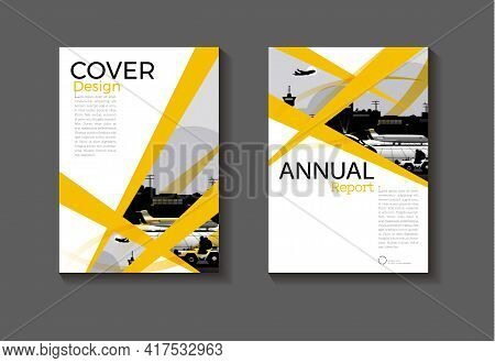 Cover Yellow Abstract Background Modern Design Modern Book Cover Brochure Cover  Template,annual Rep