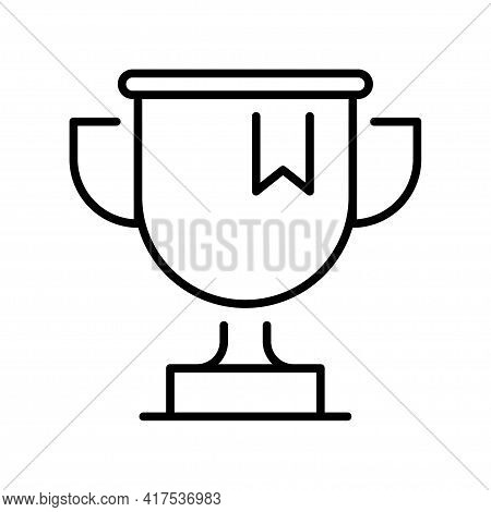 Monochrome Reward Winner Cup Icon Vector Illustration Champion Goblet Victory Success Triumph