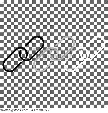 Copy Link Chain Black, Grey, White Icon. Graphic Element. Minimalistic Hyperlink Symbol. Trendy Flat