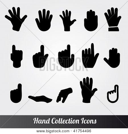 Human Hand Vector icon set