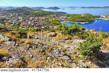 Beautiful Adriatic coast in Croatia