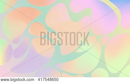 Abstract Pastel Background With Twisted Bubbles Texture. Tie Dye Colorful Print. Vector Illustration