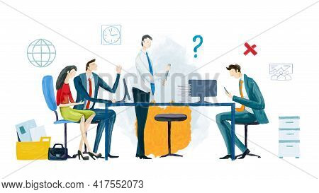 Business People, Creative Team Working In Office. Future Project, Developing Concept. Professional C