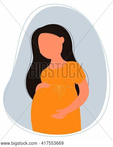 Pregnant Woman. Pregnancy And Motherhood. Vector Illustration In Flat Style.