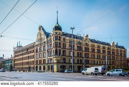 Budapest, Hungary, March 2020, View Of The Budapest Electric Works Building A Electricity Supply Com