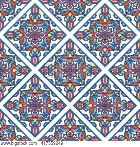 Aztec Culture Beauty Pattern. Outline Hand Drawn Illustration Of Aztec Culture Beauty Vector Pattern