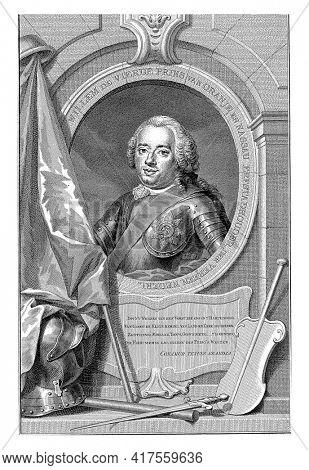 Portrait of William IV, vintage engraving.