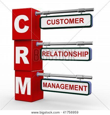 3D Modern Signboard Of Crm
