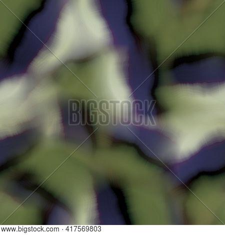 Blurry Gradient Glitch Abstract Watercolour Texture Background. Wavy Irregular Bleeding Dye Wash Sea