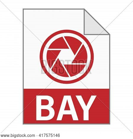 Modern Flat Design Of Bay File Icon For Web