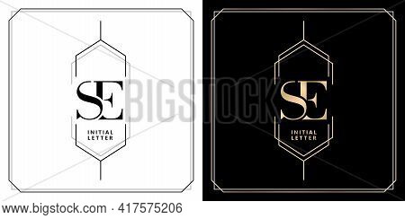 Se Initial Letter And Graphic Name, Se Monogram For Wedding Couple Logo, Logo Company And Icon Busin