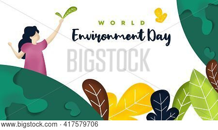 World Environment Day Background Illustration Vector. World Environment Day Web Banner and Online Fl