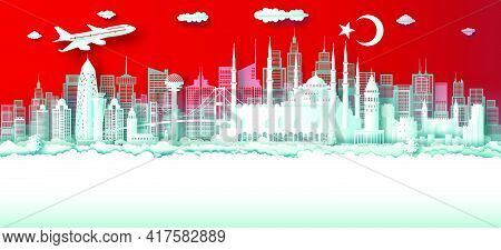 Travel Turkey Top World Famous City Ancient And Palace Architecture. Tour Moscow Landmark Of Europe