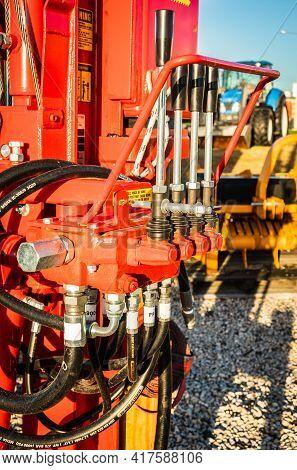 Hydraulics Control Box Found On Farm Equipment.