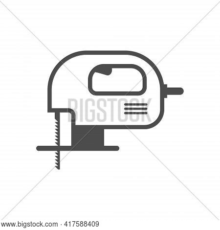 Jig Saw, Vector Construction And Repair Tool Icon