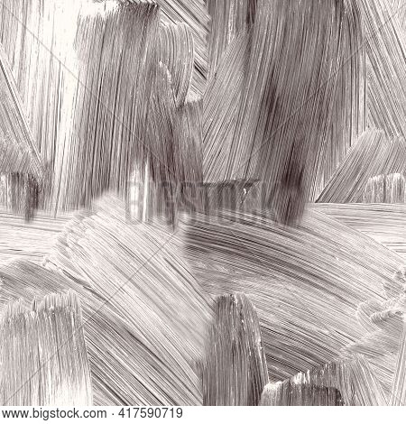Seamless Texture. Blurred Abstract Background. Texture Of Painted Glass Surface With White Lines Fro