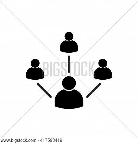 Leadership Traits Icon Vector Development And Teamwork Symbol For Graphic Design, Logo, Web Site, So