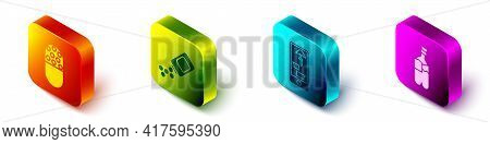 Set Isometric Medicine Pill Or Tablet, Medicine Bottle And Pills, Buying Drugs Online On Phone And B
