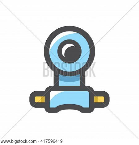 Spy Scope Underwater Vector Icon Cartoon Illustration