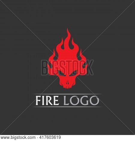 Fire Skull, Devil  Flame Vector Illustration Design Template Power, Hot, Icon, Logo, Light, Devil, B