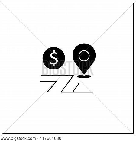 Assets Location Glyph Icon. Investments Distribution By Savings Vehicles.tax Accounts, Tax Deferred
