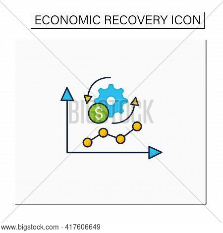 Economy Adaptation Color Icon. Positive Changes, New Development, Better Technology.changes In Busin