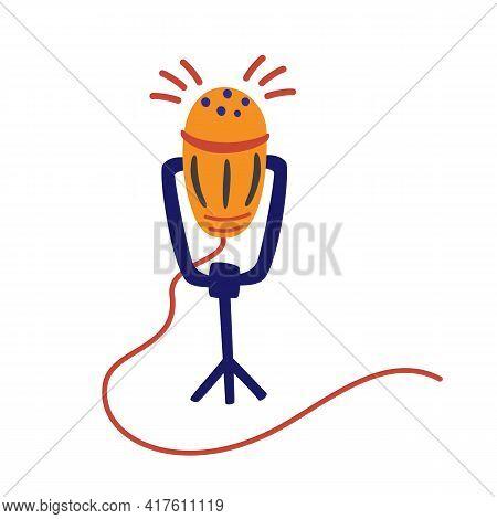 Media Tool, Microphone, Broadcasting Facilities. Sound Recording Device, Podcast, Media Equipment Ha