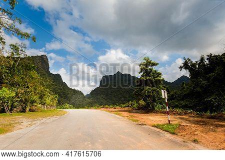 Tropical Phong Nha Vietnam Landscape