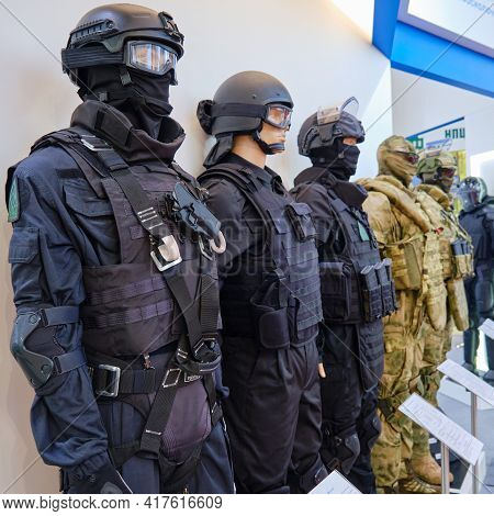 Uniforms Of The Military, Police And Law Enforcement Agencies - Moscow, Russia, October 25, 2019