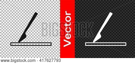 Black Medical Surgery Scalpel Tool Icon Isolated On Transparent Background. Medical Instrument. Vect