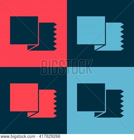 Pop Art Textile Fabric Roll Icon Isolated On Color Background. Roll, Mat, Rug, Cloth, Carpet Or Pape