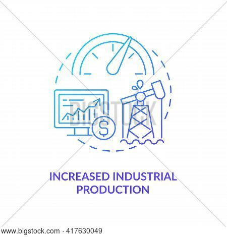 Increased Industrial Production Concept Icon. Oil Price Idea Thin Line Illustration. Demands For Inf