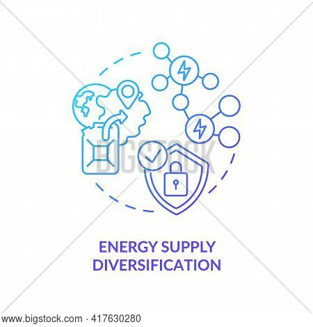 Energy Supply Diversification Concept Icon. Competitive Prices Idea Thin Line Illustration. Power Se