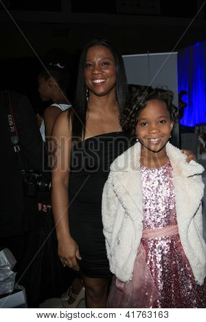 LOS ANGELES - FEB 1: Qulyndreia Wallis, Quvenzhane Wallis in the Bellafortuna Entertainment gifting suite at the NAACP awards on February 1, 2013 in Los Angeles, California