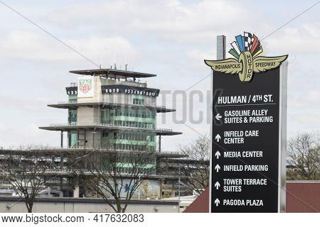 Indianapolis - Circa April 2021: The Pagoda And Infield At Indianapolis Motor Speedway. The Pagoda I
