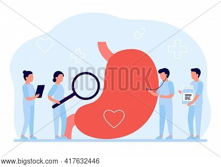 Stomach And Abdominal Care, Belly Checkup Doctor. Gastrointestinal Indigestion, Helicobacter, Diseas