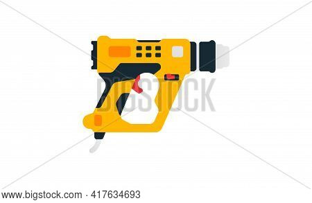Electric Construction Dryer Side View. Power Tools For Home, Construction And Finishing Work. Profes