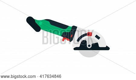 Angle Grinder, Cordless Grinder Side View. Power Tools For Home, Construction And Finishing Work. Pr