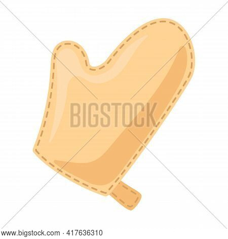 Mitten For Spa Vector Icon.cartoon Vector Icon Isolated On White Background Mitten For Spa.