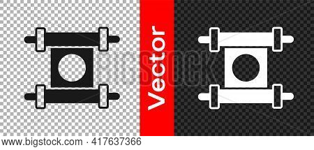 Black Decree, Paper, Parchment, Scroll Icon Icon Isolated On Transparent Background. Chinese Scroll.