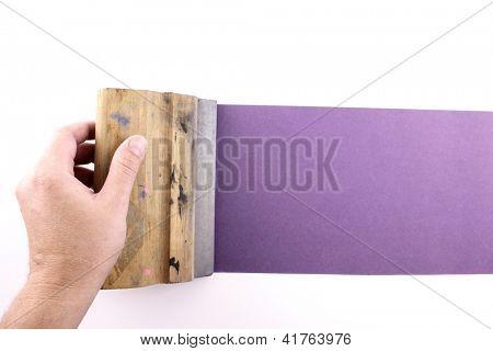 Photo of Purple printmaking