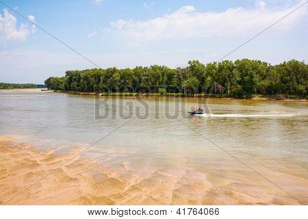 Platte River, west of Omaha, Nebraska