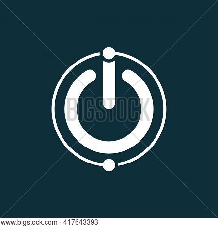 Illustration Vector Graphic Of  Letter Io Logo Forms The Power Button. Suitable For Technology Or It