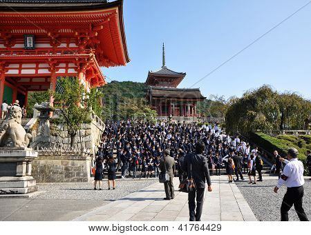 Kyoto- Oct 21: Field Visit At Koyomizu Temple, A Famous Tourist Attraction, In Kyoto  On October 21,