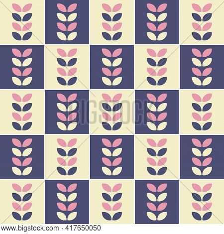 Multi-colored Pattern Of Geometric Shapes. Vector Illustration