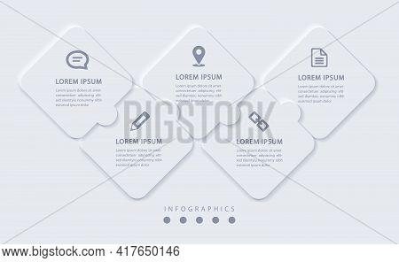 Vector Elegant Simple Refined Style Infographic Design Ui Template Labels And Icons. Ideal For Busin
