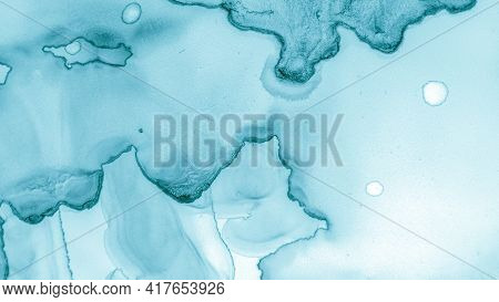 Contemporary Wave Wallpaper. Contemporary Wave Illustration. Alcohol Ink Pattern. Green Pastel Fluid