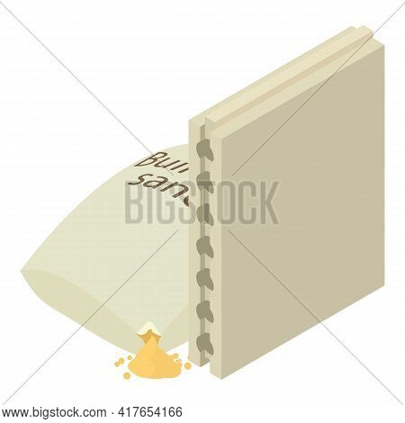 Construction Material Icon. Isometric Illustration Of Construction Material Vector Icon For Web